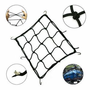 Cargo Net Motorcycle Helmet Mesh Luggage Tie Down Bungee Adjustable Bungee Black