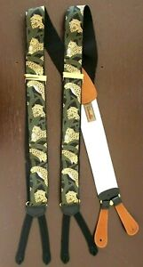 New Trafalgar Les Leopards Limited Edition Suspenders Silk Braces Jungle England