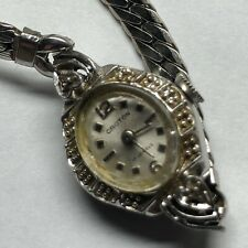 """Croton Mechanical Wind Up Ladies Vintage Watch RGP and Diamond Accent Case 6"""""""
