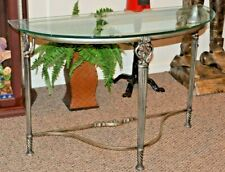 Wrought Iron Glass Top Foyer or Sofa Table
