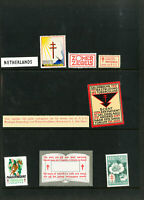 Netherlands Lot of 7 Scarce Early 1940's Vintage Stamp Seals