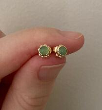 Chrysoprase Studs - 14k Yellow Gold, RRP $245