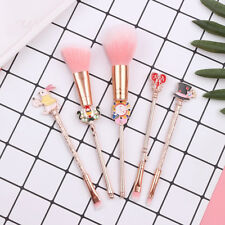 Alice in Wonderland Makeup Brush Set Cute Cosmetic Tools 5pcs Brushes