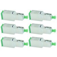 6x 5dB SC APC Connector Fiber Optic Optical Attenuator Single Mode Metal Green