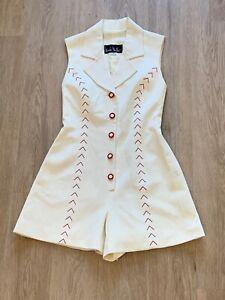 pants skirt and poncho size large Vintage 1980\u2019s Alfredo\u2019s Wife beige linen three piece beachy ensemble
