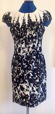 Beautiful Et Vous black & white dress size 10 Holly Willoughby
