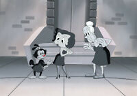 Animaniacs- Dot and Betty Boop-Original Production Cel/OBG-Gild With the Googily