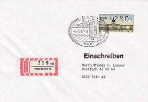 Berlin Beleg Atm 280 Inscrire