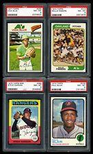1970's Topps Baseball Cards (Lot of 4) All PSA 8 1973 1974 1975 Mini 1977