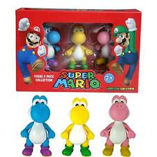 Super Mario trio Yoshi color mini figure edizione limitata originale ufficiale N
