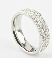 7½ mm PVD BONDED 18kt GOLD Mens & Womens  MICRO- PAVE  CZ ETERNITY Band RING