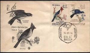 AAF-301 ARGENTINA 1964 FAUNA BIRDS FDC
