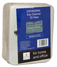 Wall Key Cabinet / Safe + Tags - 20 Keys Holder Cathedral White
