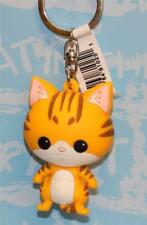 MONOGRAM PURRFECT PETS CAT 3-D FIGURAL KEY-RING KEY CHAIN RED TABBY