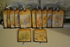 12 Handmade Gift Tags Beatrix Potter~ Peter Rabbit ~ Luggage Gift Tags Labels