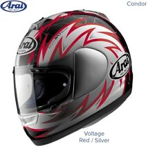 #ARAI CONDOR - MOTORCYCLE HELMET - VOLTAGE RED - MEDIUM - MINT COND - £94.99