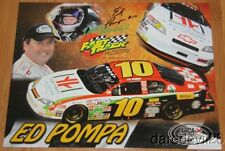 2014 Ed Pompa signed Double H Ranch Chevy Monte Carlo ARCA postcard