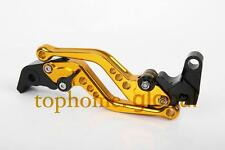 For KAWASAKI ZX10R 2004-2005 Short Clutch Brake Levers Gold CNC Adjustable