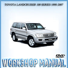 TOYOTA LANDCRUISER 100 SERIES 1998-2007 WORKSHOP SERVICE REPAIR MANUAL IN DISC