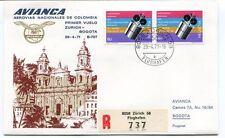 FFC 1971 Avianca Colombia Airlines First Flight Zurich Bogota REGISTERED