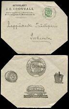 FINLAND 1900 ILLUSTRATED RAILWAY TRUCK ADVERTISING ENVELOPE...CRONVALL