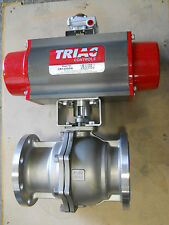 "TRIAC 2R1200DA ACTUATOR with OVERSIZED 6"" 93C-F1-600/2R6D-XA SS BALL VALVE - NEW"
