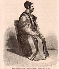 PERE PROCOPE COUVENT STE CATHERINE SINAI EGYPTE EGYPT IMAGE 1864 ENGRAVING