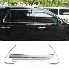 Stainless Steel Bottom Lower Window Frame Sill Trim Cover for Ford Explorer 2016
