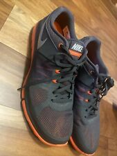 Size 12- Nike Flex 2014 Run Gray Orange