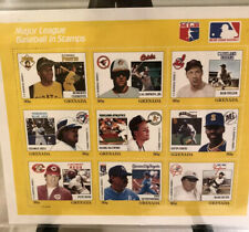 MLB Stamps 1988 Grenada includes Pete Rose in Limited Edition Block of 9 stamps