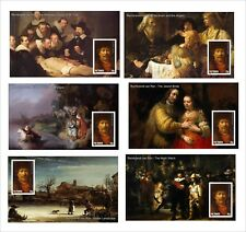 2010 REMBRANDT PAINTINGS ART 21 SOUVENIR SHEETS MNH UNPERFORATED