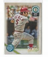 2018 Topps Gypsy Queen Baseball Legend short print high number #312 Johnny Bench