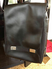 Beautiful NIKE Black Leather Messenger Laptop sleeve Shoulder Bag Marion Jones