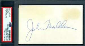 John Madden PSA DNA Coa Signed 3x5 Index Card Autograph