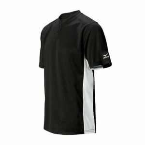 New Mizuno Baseball Youth Boys Medium G2 Black & White Jersey