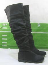 """new ladies Black 1""""block Heel Over Knee  Sexy Boots Size 8.5"""