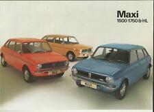 AUSTIN MAXI 1500,1750 AND 1750 HL SALES BROCHURE JUNE 1978