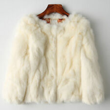 New 100% Real Rabbit Fur Women Coat Jacket Overcoat Garment Short Coat Outwear