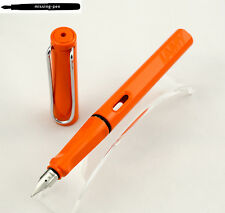 Lamy Safari Fountain Pen Special Edition Color Orange / Silver Clip from 2009