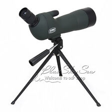 GOMU Advanced Optic Angled 20-60x60 Zoom Spotting Scope Monocular w/Focus Tripod