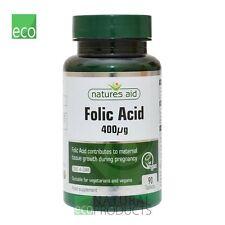 Natures Aid acido folico 400ug 90 Compresse Vegano