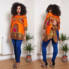 Dashiki women Shirt African dress Hippie Vintage Boho Tribal Womens Blouse party