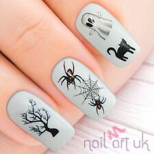 Halloween Decal Nail Stickers Transfers Tattoos Art 01.03.016 Ghost Spider Cat
