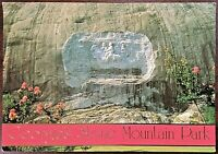 Vintage 1980s Atlanta Stone Mountain Park & Memorial Postcard