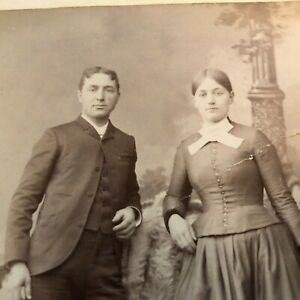 Antique Cabinet Card Photograph Polo, Northern IL  Dan & Mary Garber Real Photo