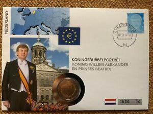 Numisbrief 2 Euro Niederlande 2014 - König Wilhelm und Prinzessin Beatrix