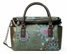 Desigual Luna Rock Loverty Hand Bag Handtasche Umhängetasche Tasche Verde Oscuro