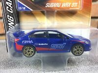 Majorette Subaru WRX STI- Blue Gold alloys ech:1/58 Model diecast toy car
