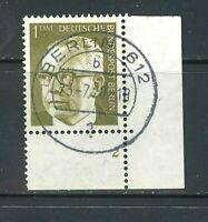 Berlin Mi-Nr. 369 - Ecke 4 - Eckrand mit Formnummer 2 - zentrisch Vollstempel