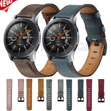 For Samsung Galaxy Watch 46mm Gear S3 Soft Genuine Leather Wrist Band Strap 22mm